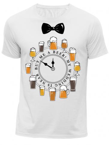 Beer Bräutigam Herren T-Shirt weiß