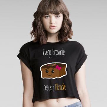 Cupkake Brownie Crop Top
