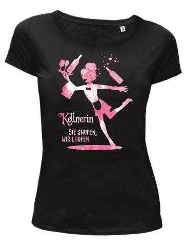 Kellnerin pink Damen T-Shirt