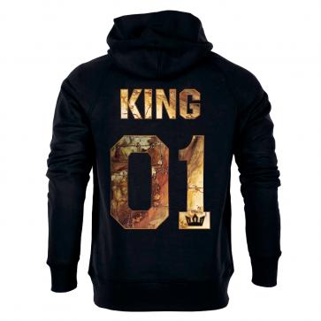 King in Gold Herren Hoodie