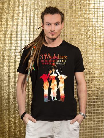 3 Muskebiere Herren T-Shirt