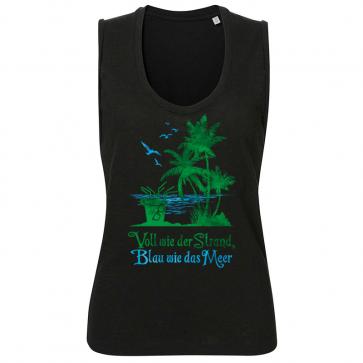 Voll wie der Strand, blau wie das Meer Damen Beach Tank