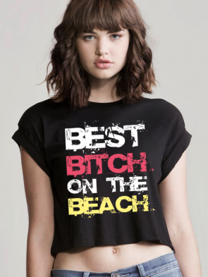 Beach Bitch Crop Top