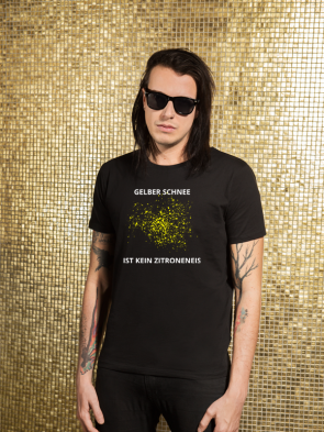 Gelber Schnee Herren T-Shirt