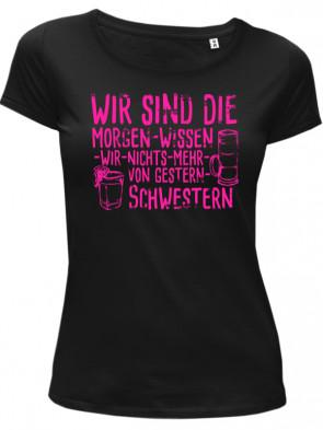 Gestern Schwestern pink Damen T-Shirt