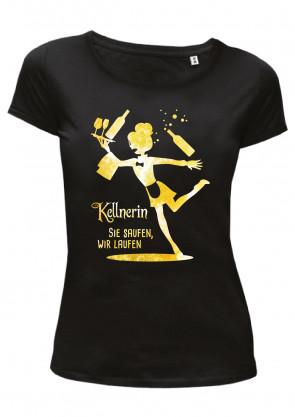 Kellnerin gelb Damen T-Shirt