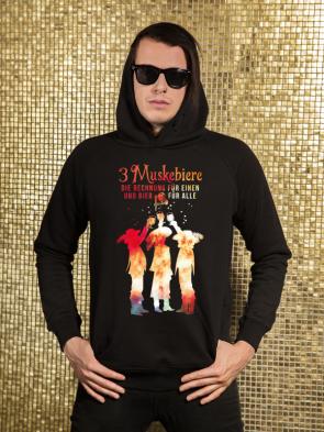 Sale 3 Muskebiere Herren Hoodie
