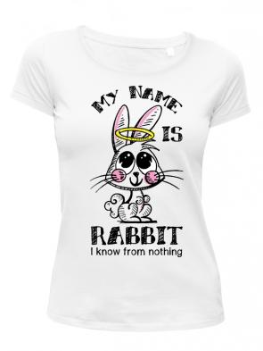 Rabbit Damen T-Shirt weiß