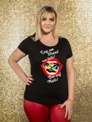 Bin auf Malle Damen T-Shirt