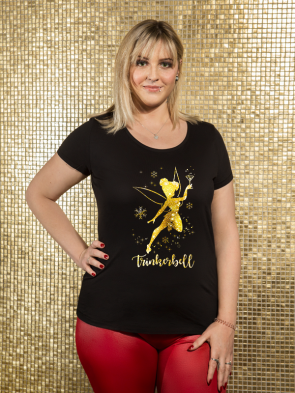 Glitter Trinkerbell Damen T-Shirt