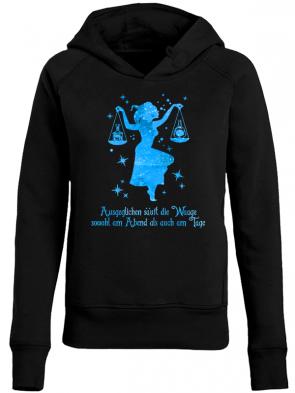 Waage Blau Damen Hoodie
