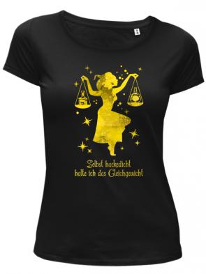 Waage gelb Damen T-Shirt